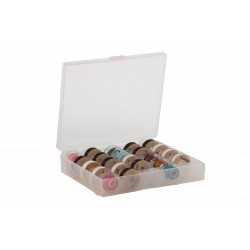 Opbergbox spoeltjes transparant plastic
