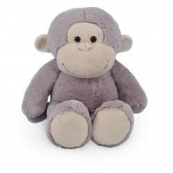 Borduurknuffel aap grijs