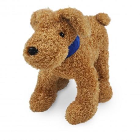 Borduurknuffel hondje bruin