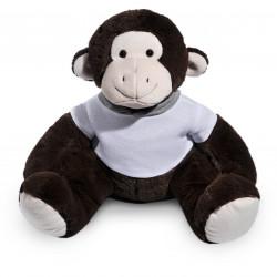 Borduurknuffel aap donkerbruin met afritsbare voetjes