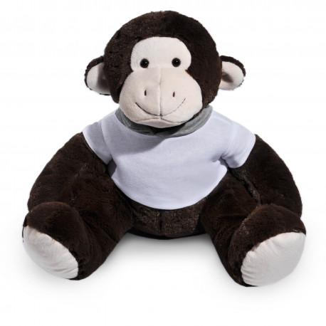 Borduurknuffel aap donkerbruin